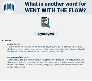 went with the flow, synonym went with the flow, another word for went with the flow, words like went with the flow, thesaurus went with the flow