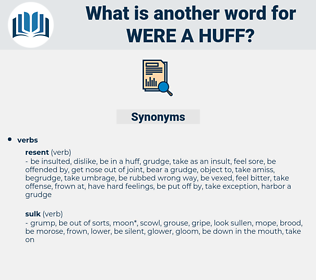 were a huff, synonym were a huff, another word for were a huff, words like were a huff, thesaurus were a huff