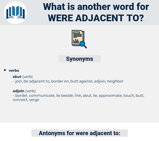 were adjacent to, synonym were adjacent to, another word for were adjacent to, words like were adjacent to, thesaurus were adjacent to