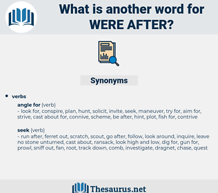 were after, synonym were after, another word for were after, words like were after, thesaurus were after