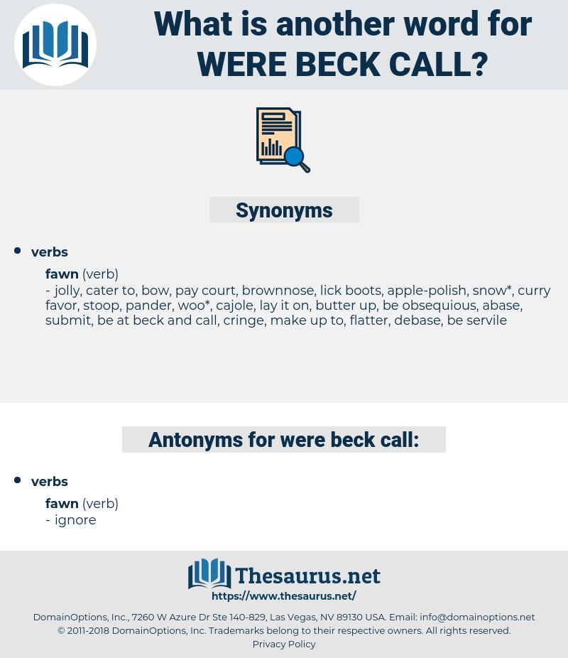 were beck call, synonym were beck call, another word for were beck call, words like were beck call, thesaurus were beck call