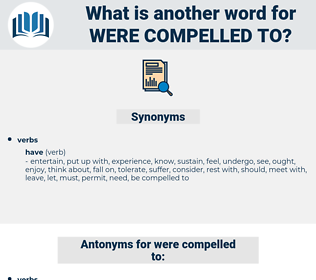 were compelled to, synonym were compelled to, another word for were compelled to, words like were compelled to, thesaurus were compelled to