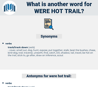 were hot trail, synonym were hot trail, another word for were hot trail, words like were hot trail, thesaurus were hot trail