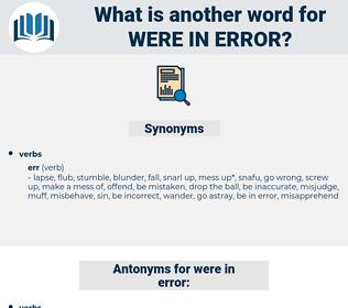 were in error, synonym were in error, another word for were in error, words like were in error, thesaurus were in error