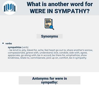 were in sympathy, synonym were in sympathy, another word for were in sympathy, words like were in sympathy, thesaurus were in sympathy