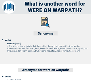 were on warpath, synonym were on warpath, another word for were on warpath, words like were on warpath, thesaurus were on warpath