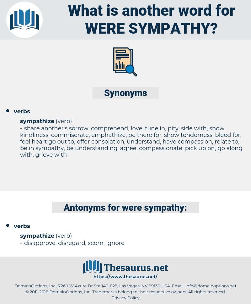 were sympathy, synonym were sympathy, another word for were sympathy, words like were sympathy, thesaurus were sympathy