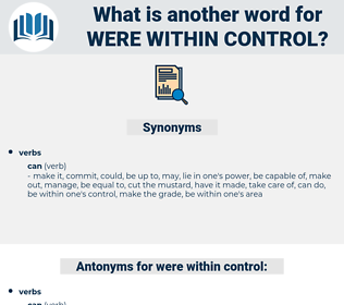 were within control, synonym were within control, another word for were within control, words like were within control, thesaurus were within control