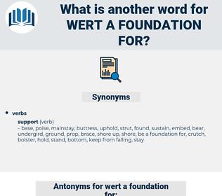 wert a foundation for, synonym wert a foundation for, another word for wert a foundation for, words like wert a foundation for, thesaurus wert a foundation for