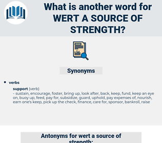 wert a source of strength, synonym wert a source of strength, another word for wert a source of strength, words like wert a source of strength, thesaurus wert a source of strength