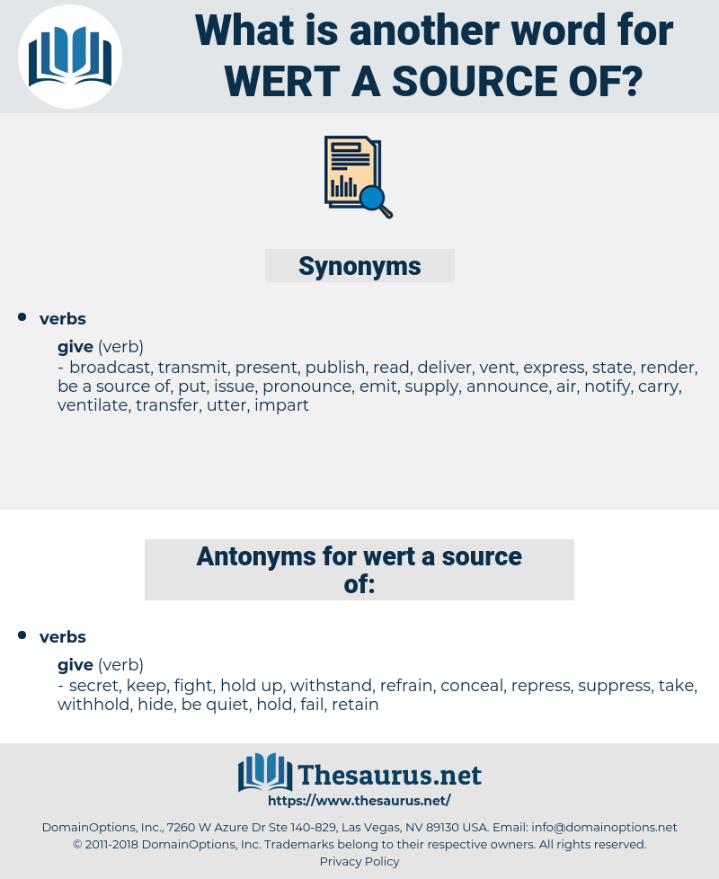 wert a source of, synonym wert a source of, another word for wert a source of, words like wert a source of, thesaurus wert a source of
