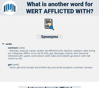 wert afflicted with, synonym wert afflicted with, another word for wert afflicted with, words like wert afflicted with, thesaurus wert afflicted with