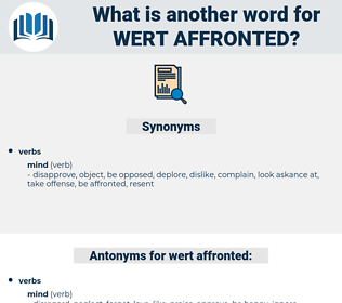 wert affronted, synonym wert affronted, another word for wert affronted, words like wert affronted, thesaurus wert affronted