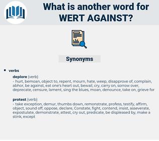wert against, synonym wert against, another word for wert against, words like wert against, thesaurus wert against