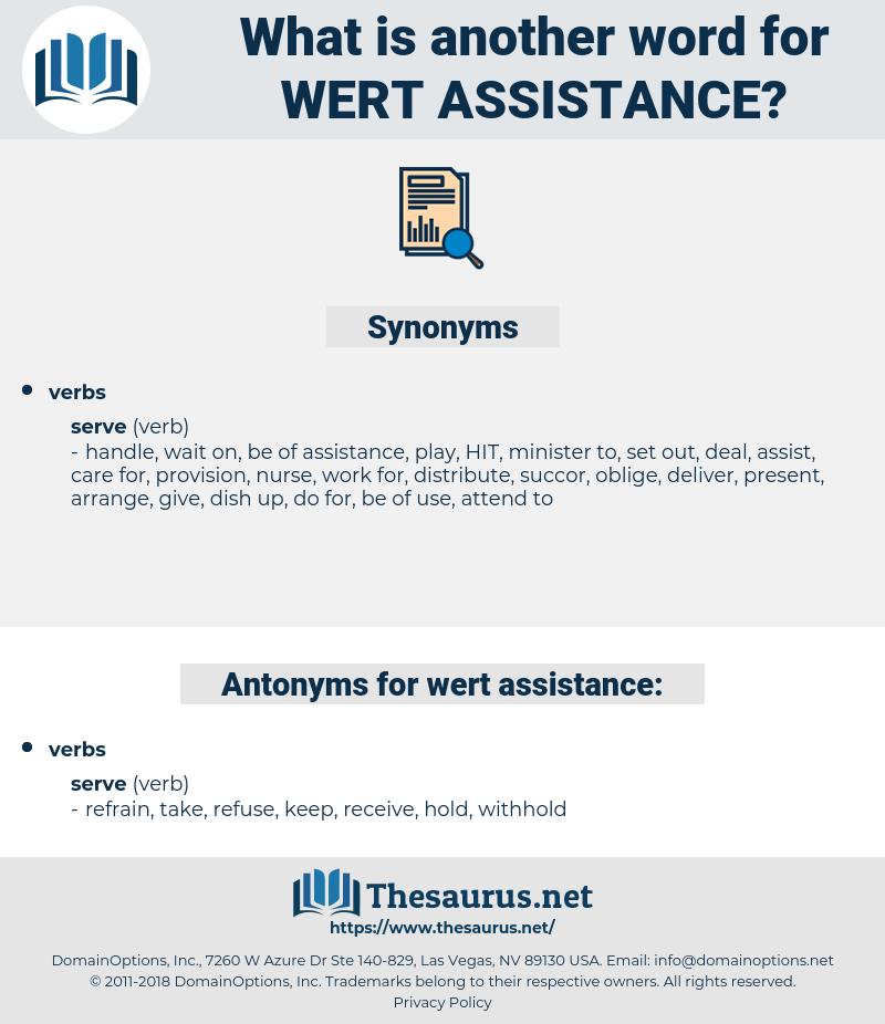 wert assistance, synonym wert assistance, another word for wert assistance, words like wert assistance, thesaurus wert assistance