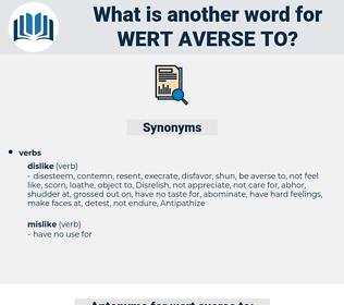wert averse to, synonym wert averse to, another word for wert averse to, words like wert averse to, thesaurus wert averse to