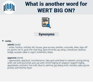 wert big on, synonym wert big on, another word for wert big on, words like wert big on, thesaurus wert big on