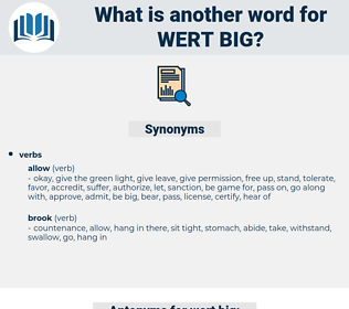 wert big, synonym wert big, another word for wert big, words like wert big, thesaurus wert big