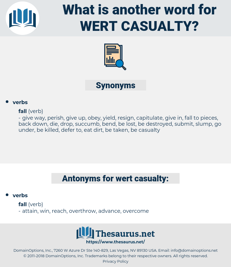 wert casualty, synonym wert casualty, another word for wert casualty, words like wert casualty, thesaurus wert casualty