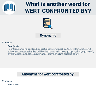 wert confronted by, synonym wert confronted by, another word for wert confronted by, words like wert confronted by, thesaurus wert confronted by