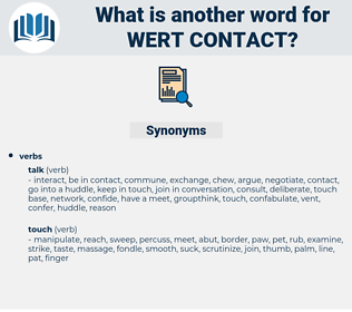 wert contact, synonym wert contact, another word for wert contact, words like wert contact, thesaurus wert contact