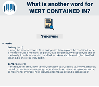 wert contained in, synonym wert contained in, another word for wert contained in, words like wert contained in, thesaurus wert contained in