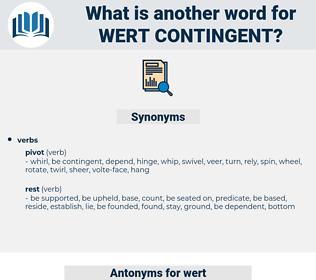 wert contingent, synonym wert contingent, another word for wert contingent, words like wert contingent, thesaurus wert contingent