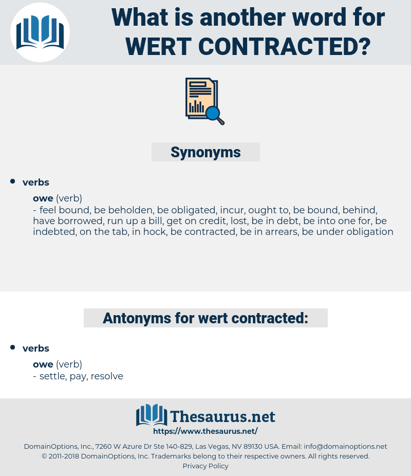 wert contracted, synonym wert contracted, another word for wert contracted, words like wert contracted, thesaurus wert contracted