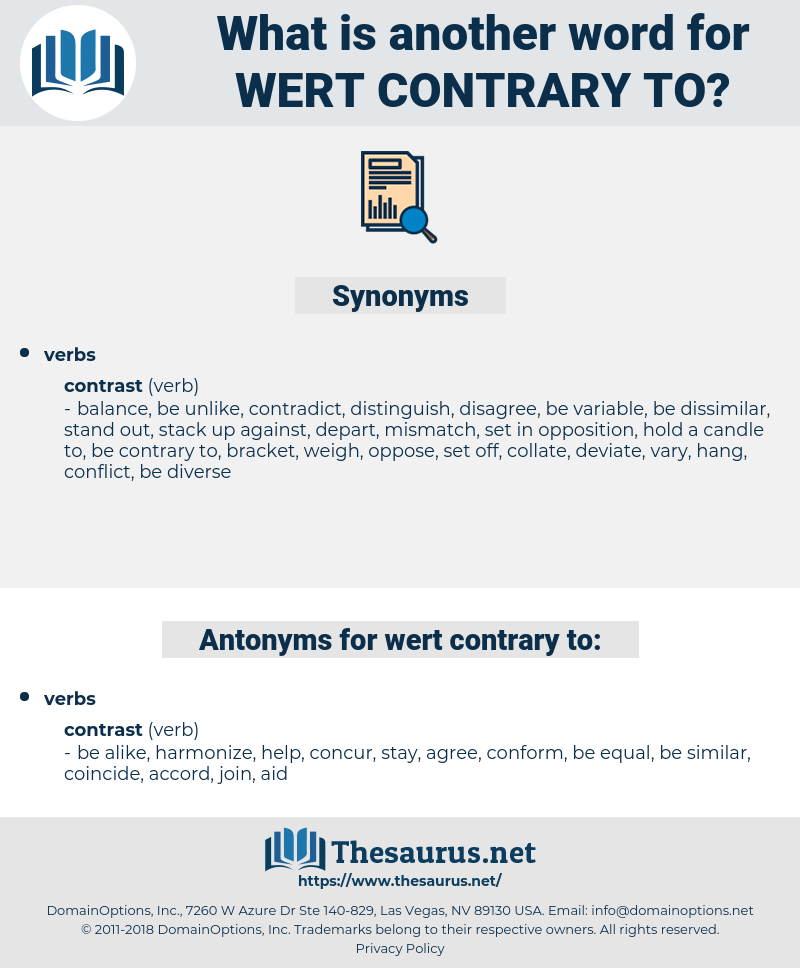 wert contrary to, synonym wert contrary to, another word for wert contrary to, words like wert contrary to, thesaurus wert contrary to