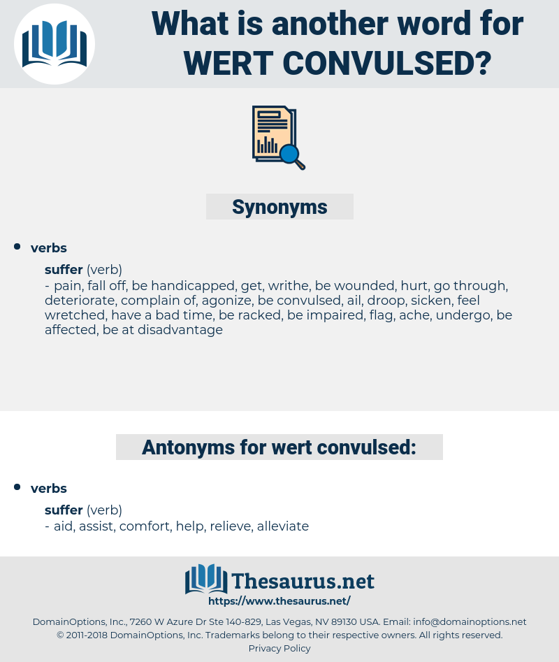 wert convulsed, synonym wert convulsed, another word for wert convulsed, words like wert convulsed, thesaurus wert convulsed