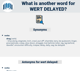 wert delayed, synonym wert delayed, another word for wert delayed, words like wert delayed, thesaurus wert delayed