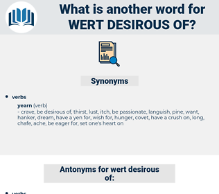 wert desirous of, synonym wert desirous of, another word for wert desirous of, words like wert desirous of, thesaurus wert desirous of