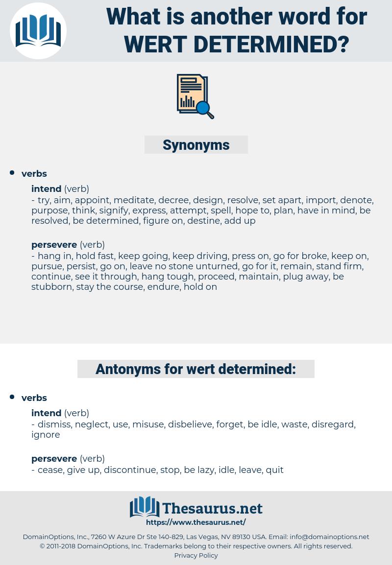 wert determined, synonym wert determined, another word for wert determined, words like wert determined, thesaurus wert determined