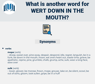 wert down in the mouth, synonym wert down in the mouth, another word for wert down in the mouth, words like wert down in the mouth, thesaurus wert down in the mouth