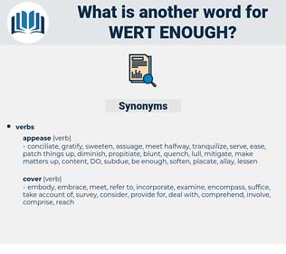 wert enough, synonym wert enough, another word for wert enough, words like wert enough, thesaurus wert enough