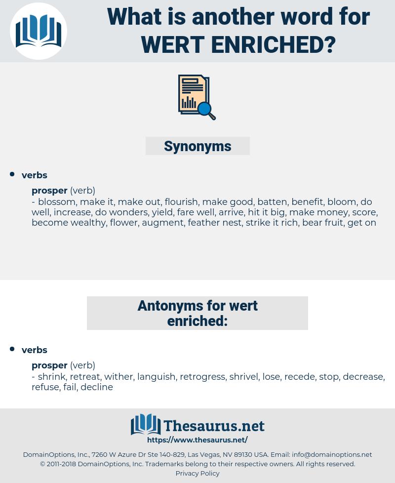 wert enriched, synonym wert enriched, another word for wert enriched, words like wert enriched, thesaurus wert enriched