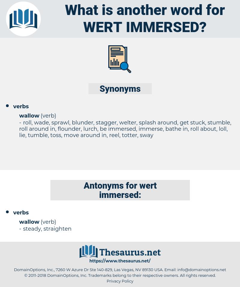 wert immersed, synonym wert immersed, another word for wert immersed, words like wert immersed, thesaurus wert immersed