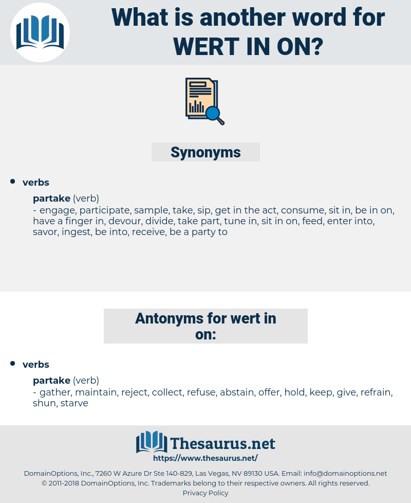 wert in on, synonym wert in on, another word for wert in on, words like wert in on, thesaurus wert in on
