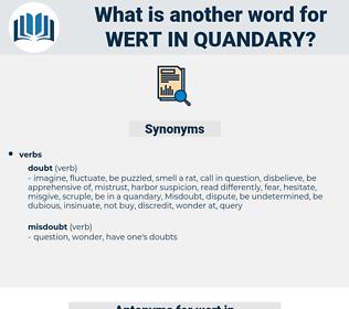 wert in quandary, synonym wert in quandary, another word for wert in quandary, words like wert in quandary, thesaurus wert in quandary