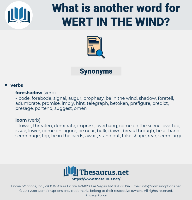 wert in the wind, synonym wert in the wind, another word for wert in the wind, words like wert in the wind, thesaurus wert in the wind