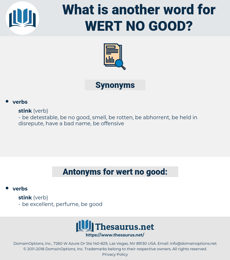 wert no good, synonym wert no good, another word for wert no good, words like wert no good, thesaurus wert no good