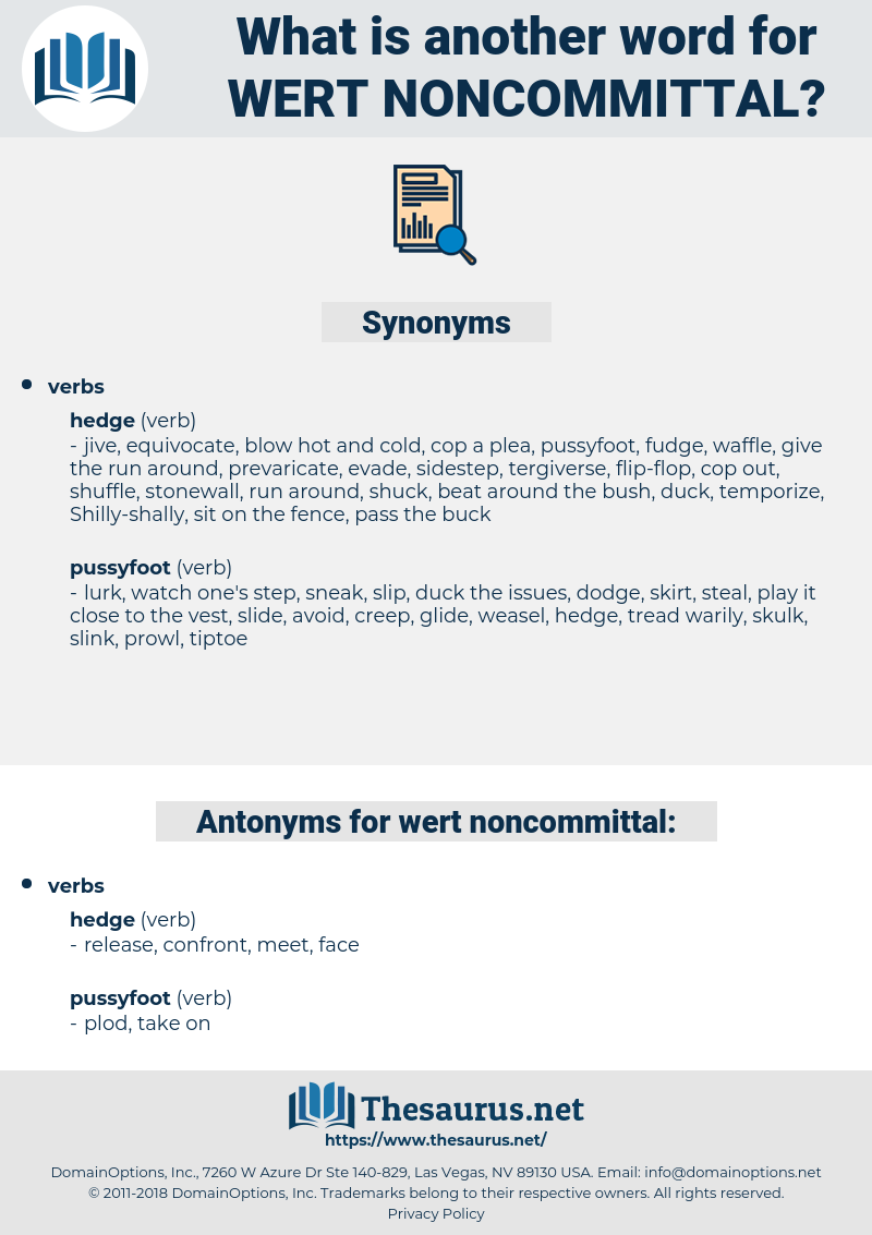 wert noncommittal, synonym wert noncommittal, another word for wert noncommittal, words like wert noncommittal, thesaurus wert noncommittal