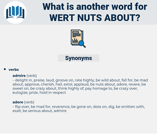wert nuts about, synonym wert nuts about, another word for wert nuts about, words like wert nuts about, thesaurus wert nuts about