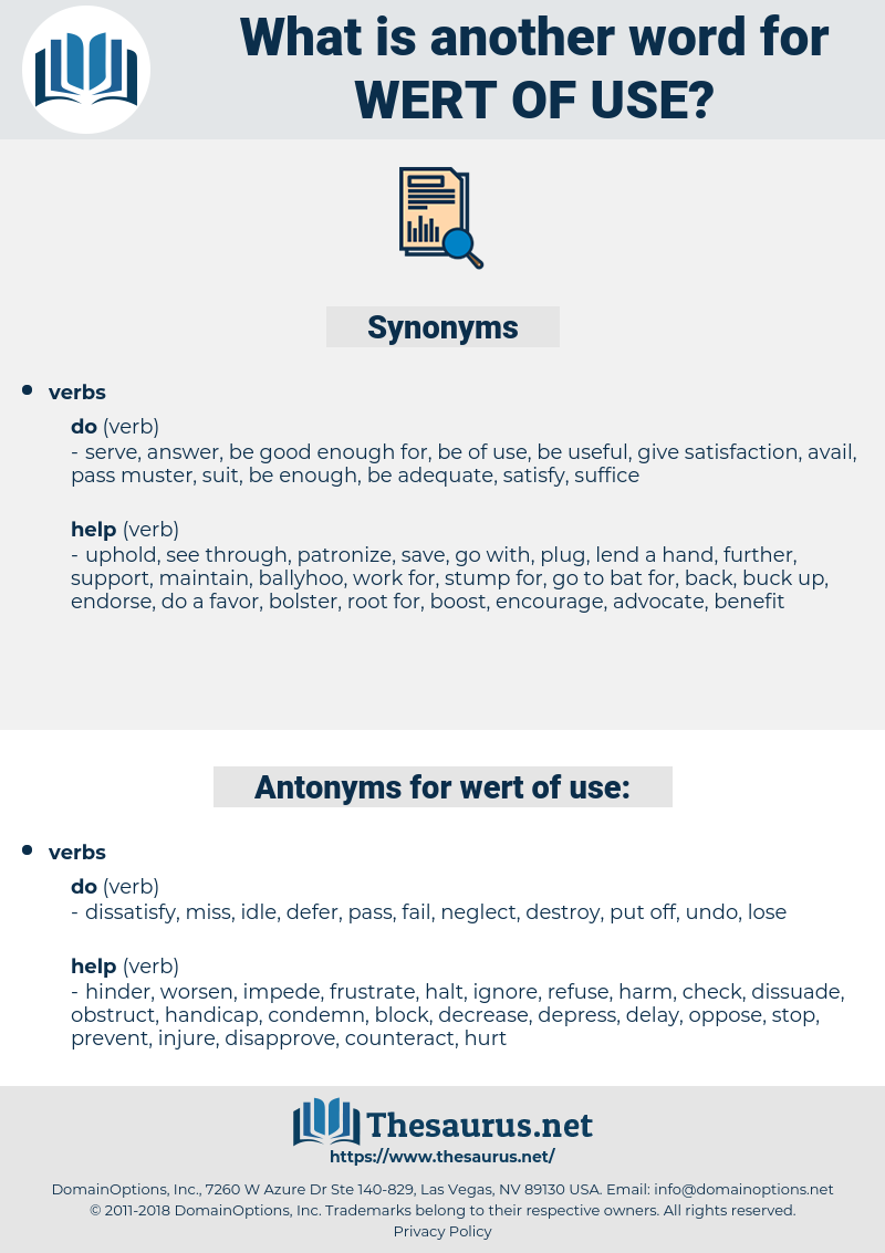 wert of use, synonym wert of use, another word for wert of use, words like wert of use, thesaurus wert of use