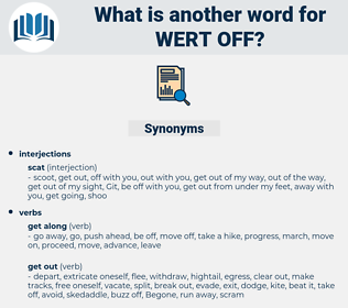 wert off, synonym wert off, another word for wert off, words like wert off, thesaurus wert off