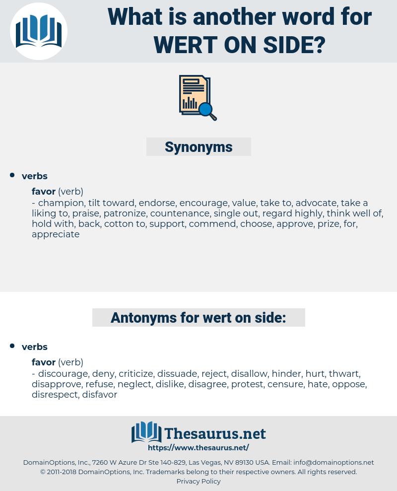 wert on side, synonym wert on side, another word for wert on side, words like wert on side, thesaurus wert on side
