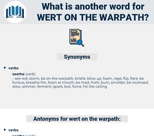 wert on the warpath, synonym wert on the warpath, another word for wert on the warpath, words like wert on the warpath, thesaurus wert on the warpath