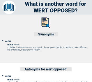 wert opposed, synonym wert opposed, another word for wert opposed, words like wert opposed, thesaurus wert opposed