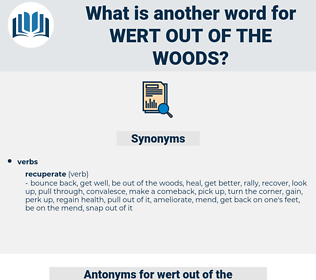 wert out of the woods, synonym wert out of the woods, another word for wert out of the woods, words like wert out of the woods, thesaurus wert out of the woods