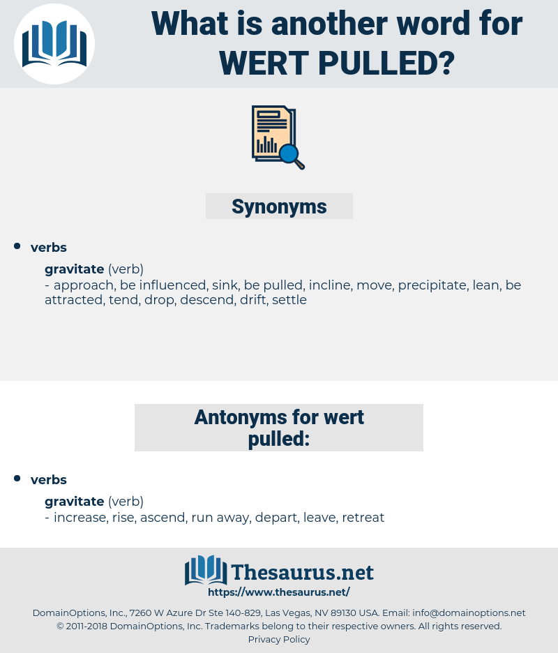 wert pulled, synonym wert pulled, another word for wert pulled, words like wert pulled, thesaurus wert pulled